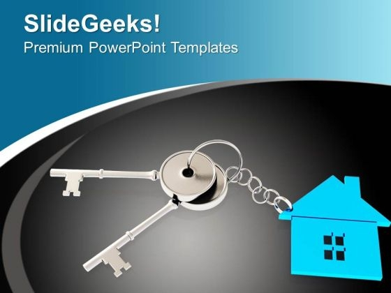 Illustration Of House Key Security Concept PowerPoint Templates Ppt Backgrounds For Slides 0213