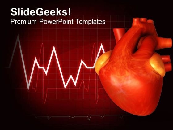 Illustration Of Human Heart PowerPoint Templates Ppt Backgrounds For Slides 0413