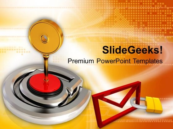 Illustration Of Protected Business Email PowerPoint Templates Ppt Backgrounds For Slides 0113