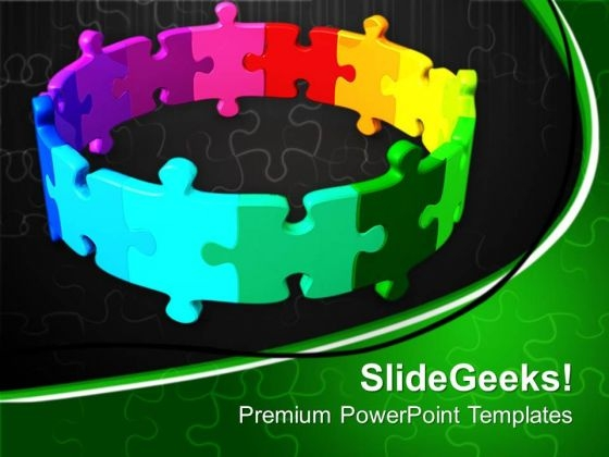 Illustration Of Puzzles Business Solution PowerPoint Templates Ppt Backgrounds For Slides 0613