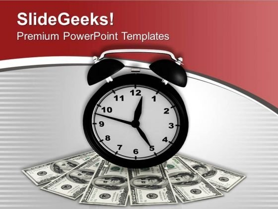 Illustration Of Time Is Money PowerPoint Templates Ppt Backgrounds For Slides 0713