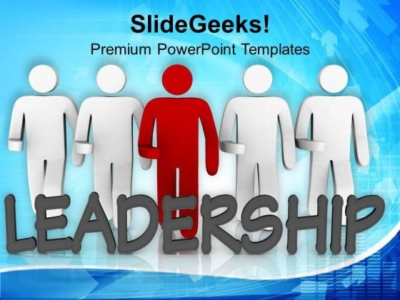 Image Of 3d Team With Leader PowerPoint Templates Ppt Backgrounds For Slides 0713