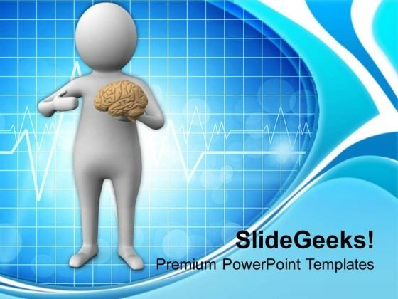 Image Of A Man With Human Brain PowerPoint Templates Ppt Backgrounds For Slides 0713