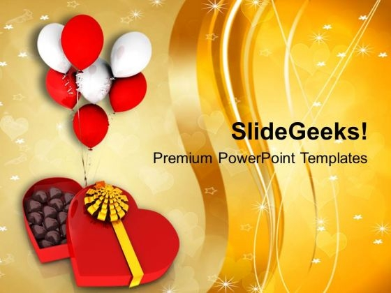 Image Of Chocolate Box With Balloons PowerPoint Templates Ppt Backgrounds For Slides 0713