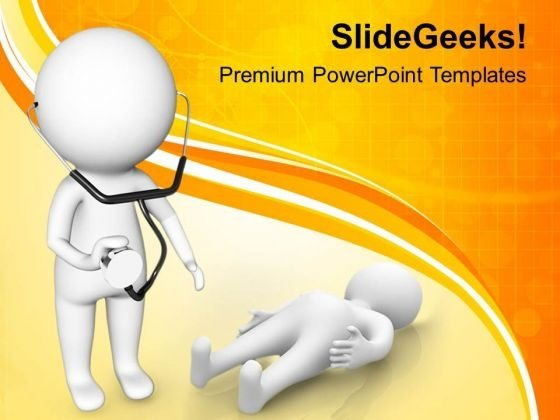 Image Of Doctor With Stethoscope PowerPoint Templates Ppt Backgrounds For Slides 0813