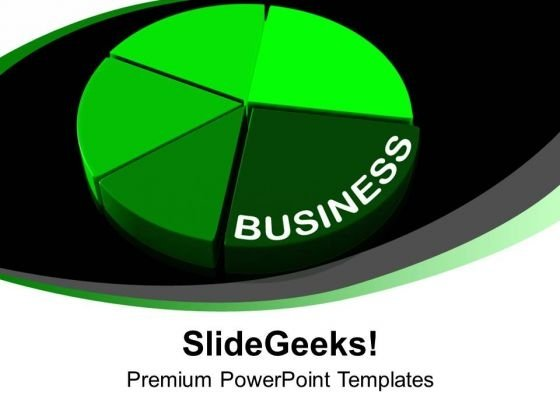 Image Of Green Business Pie Chart PowerPoint Templates Ppt Backgrounds For Slides 0113