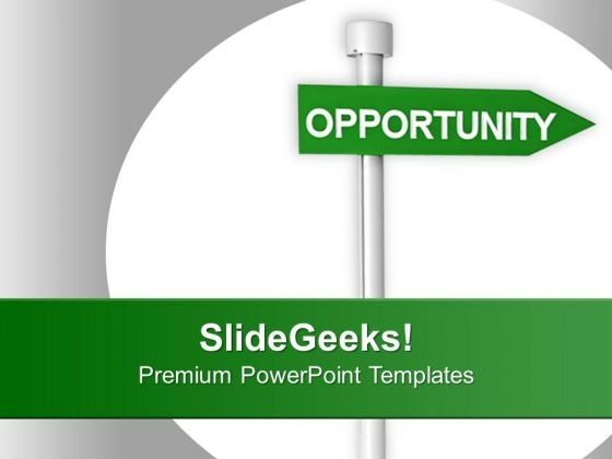 Image Of Green Opportunity Signpost PowerPoint Templates Ppt Backgrounds For Slides 0213