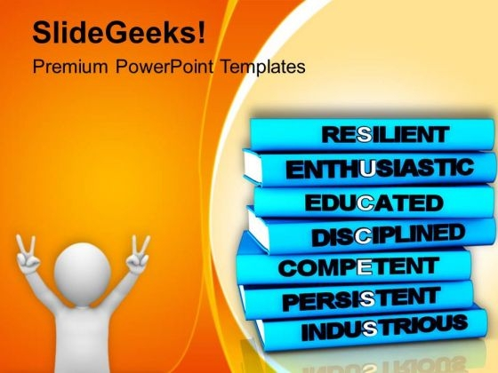 Image Of Happy Man With Books PowerPoint Templates Ppt Backgrounds For Slides 0713