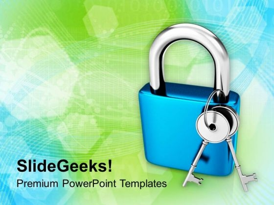 Image Of Lock With Keys PowerPoint Templates Ppt Backgrounds For Slides 0713