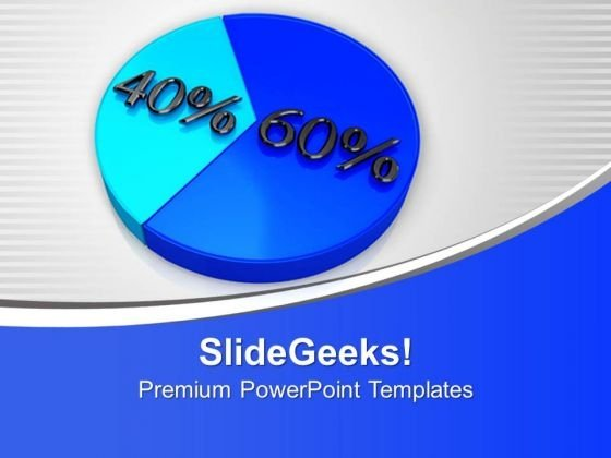Image Of Pie Chart With Percent PowerPoint Templates Ppt Backgrounds For Slides 0213