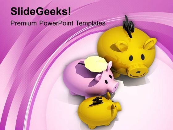 Image Of Piggy Banks Safe Investment PowerPoint Templates Ppt Backgrounds For Slides 0713