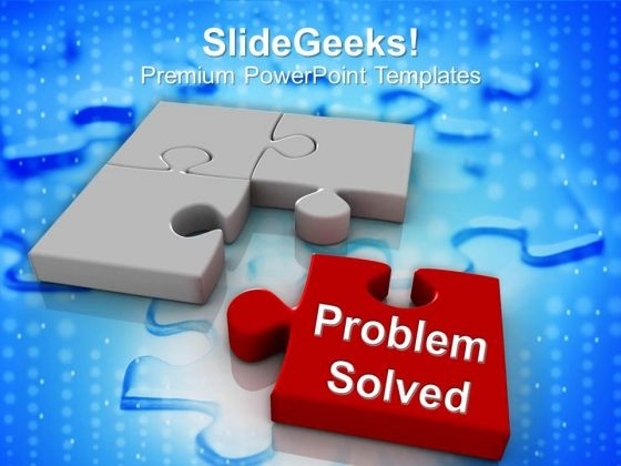 Image Of Puzzle Pieces Problem Solved PowerPoint Templates Ppt Backgrounds For Slides 0113