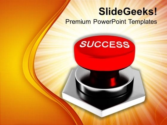 Image Of Red Success Button PowerPoint Templates Ppt Backgrounds For Slides 0113