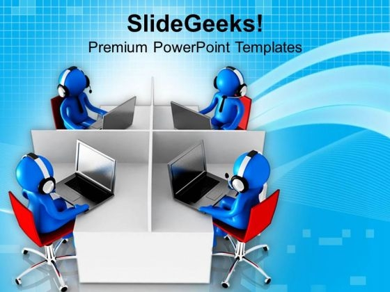 Image Of Support Center PowerPoint Templates Ppt Backgrounds For Slides 0813