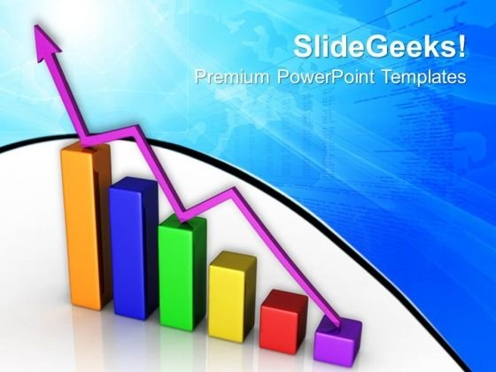 Increase Bar Graph Business PowerPoint Templates And PowerPoint Themes 0812