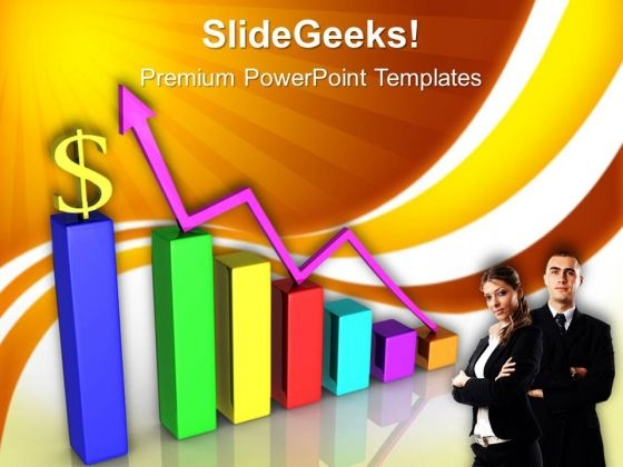 Increase Graph And Dollar Sales PowerPoint Templates And PowerPoint Themes 0612