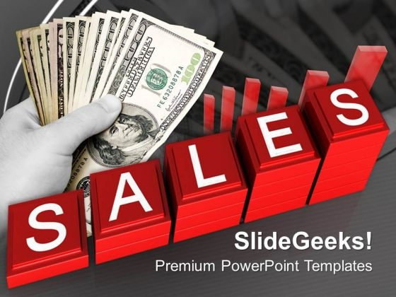 Increasing Sales Money PowerPoint Templates And PowerPoint Themes 0712