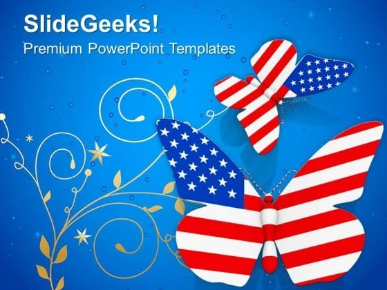 Independence Concept With Flying Butterflies PowerPoint Templates Ppt Backgrounds For Slides 0913