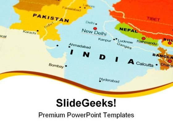 India On Map Globe PowerPoint Templates And PowerPoint Backgrounds 0811