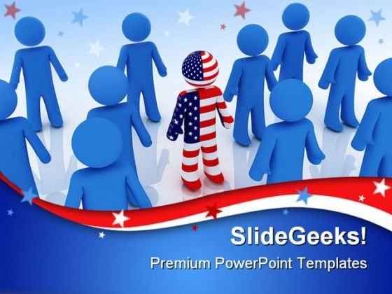 Individuality Leadership PowerPoint Templates And PowerPoint Backgrounds 0711