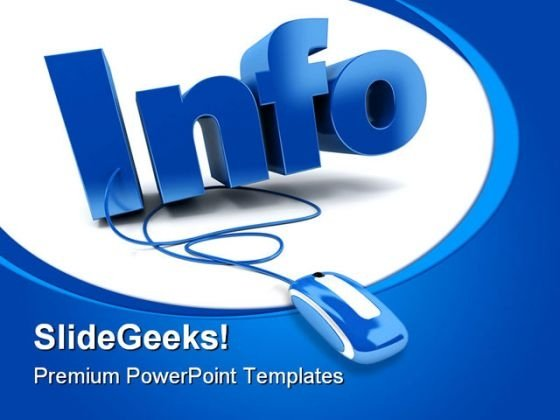 info internet computer powerpoint template 0810 - powerpoint themes, Modern powerpoint