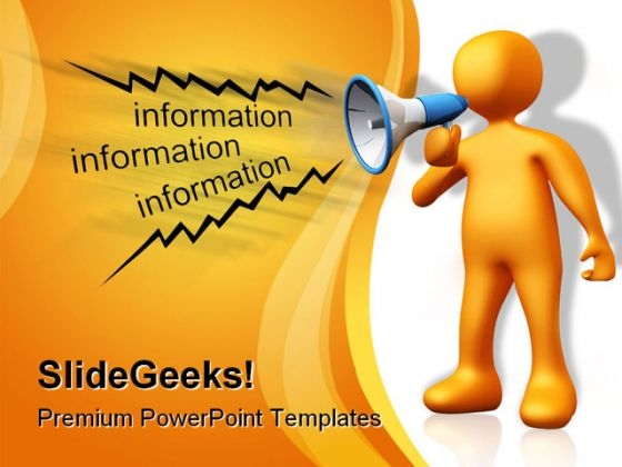 Information People PowerPoint Template 0810