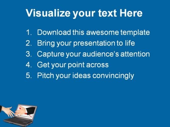 information technology handshake powerpoint templates and, Modern powerpoint
