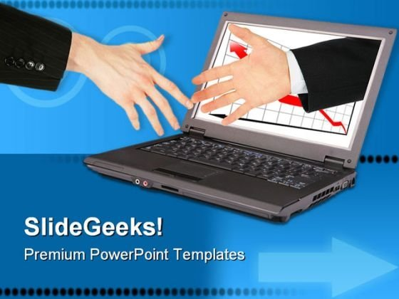 Information Technology Handshake PowerPoint Themes And PowerPoint Slides 0711