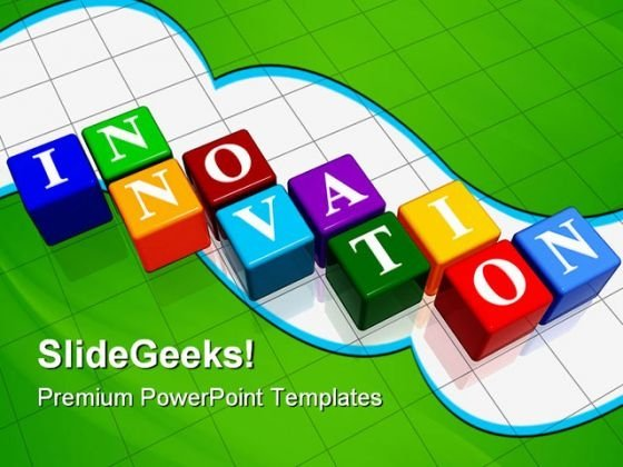 Innovation Cubes Business PowerPoint Templates And PowerPoint Backgrounds 0611
