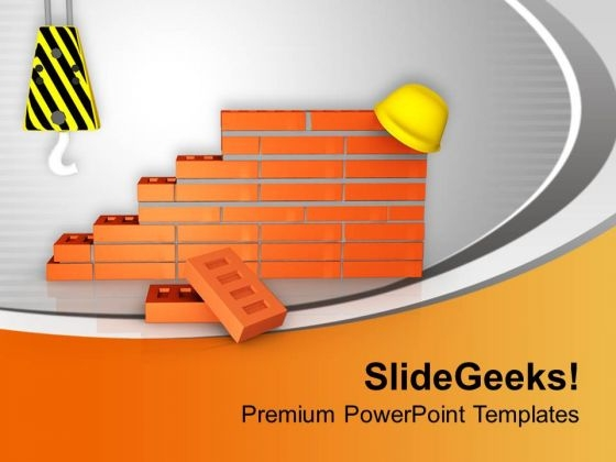 Inspect Construction Site PowerPoint Templates Ppt Backgrounds For Slides 0713