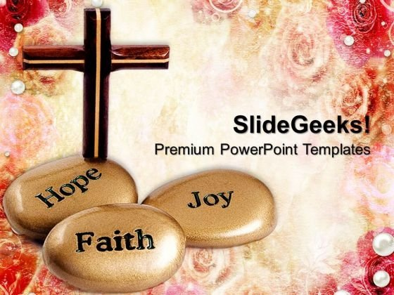 Inspirational Stones With Cross Sermon PowerPoint Templates And PowerPoint Themes 0712