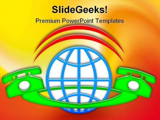 International Phone Communication PowerPoint Templates And PowerPoint Backgrounds 0311