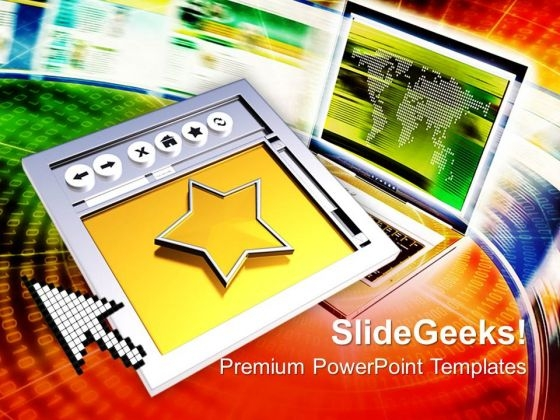 Internet Browser Favourites Computer PowerPoint Templates And PowerPoint Themes 1112