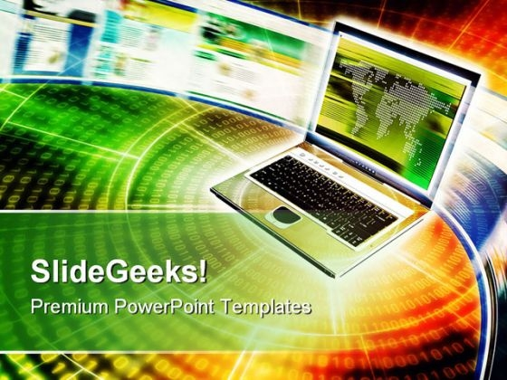 Internet Communication Business PowerPoint Templates And PowerPoint Backgrounds 0711