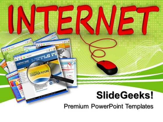 Internet Connected To Computer PowerPoint Templates And PowerPoint Themes 0712