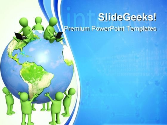 Internet Global Communication PowerPoint Templates And PowerPoint Backgrounds 0611