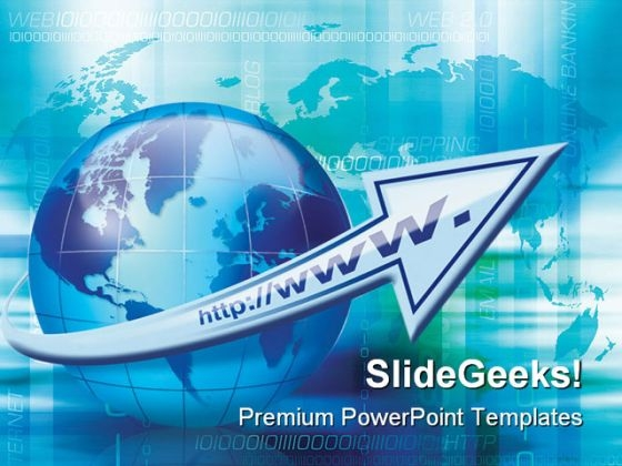 Internet Growth Globe PowerPoint Backgrounds And Templates 1210