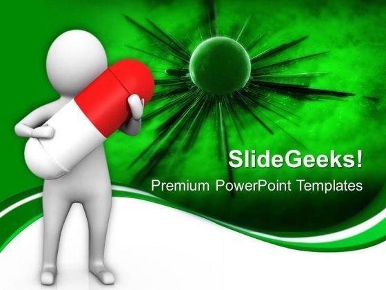 Invention Of Medicine 3d Illustration PowerPoint Templates Ppt Backgrounds For Slides 0813