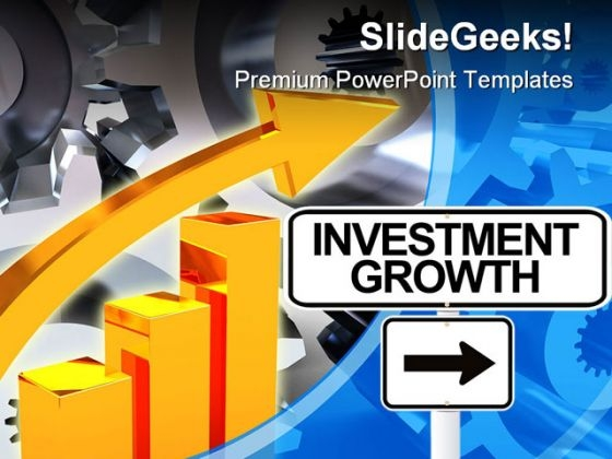 Investment Growth And Gears Industrial PowerPoint Templates And PowerPoint Backgrounds 0111