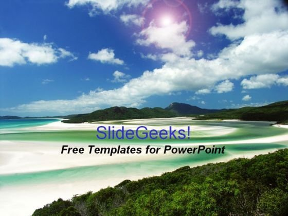 Beach Holidays PowerPoint Template