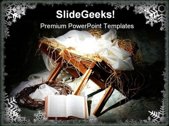 Jesus Birth Religion PowerPoint Template 0610