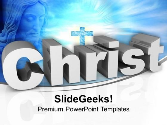 Jesus Christ Cross Christianity PowerPoint Templates Ppt Background For Slides 1112