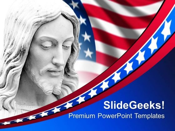 Jesus Church American PowerPoint Templates And PowerPoint Themes 0712