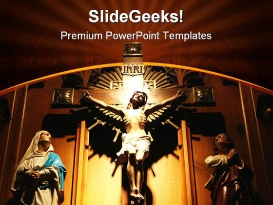 Jesus Church Religion PowerPoint Template 0610