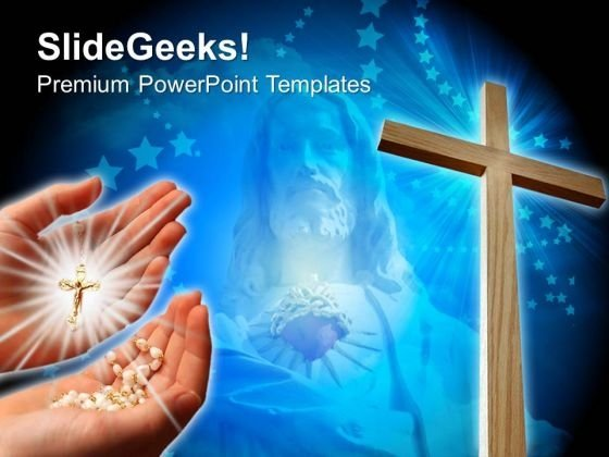 Jesus Cross Christian PowerPoint Templates And PowerPoint Themes 0712