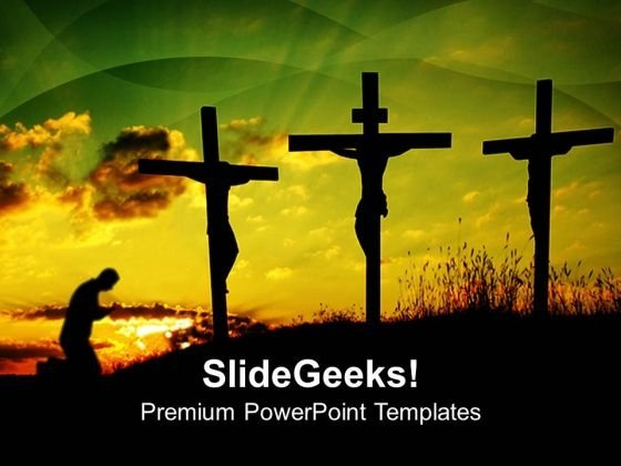 Jesus Crucify Church PowerPoint Templates And PowerPoint Themes 0812