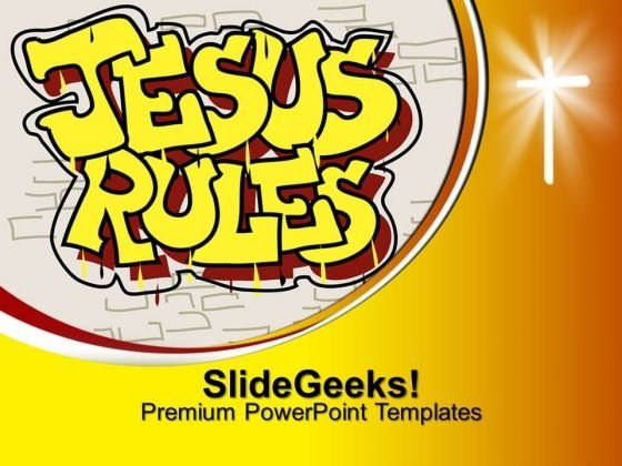 Jesus Rules Christian PowerPoint Templates And PowerPoint Themes 0712