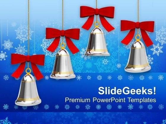 Jingle Bells On Christmas PowerPoint Template 1113