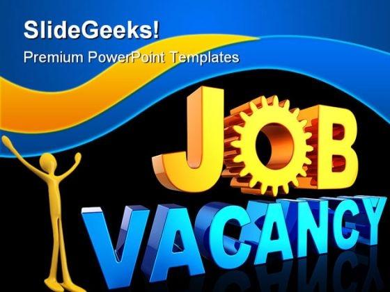 Job Vacancy Future PowerPoint Template 1110
