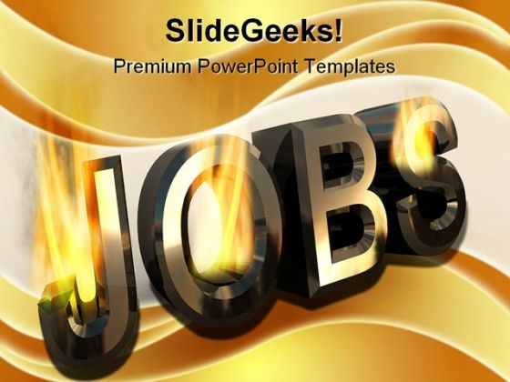 Jobs Burning People PowerPoint Template 0910